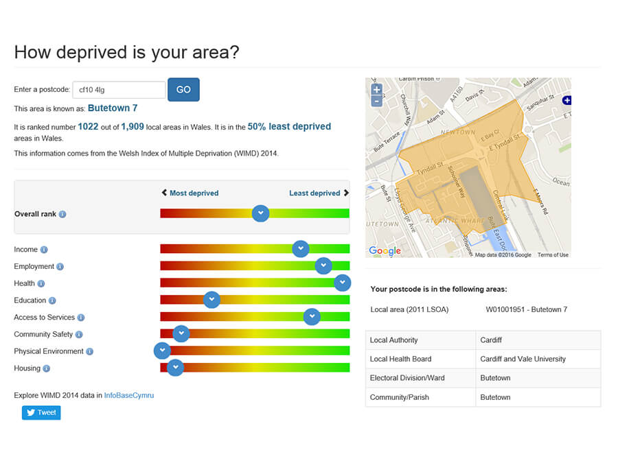 WIMD - How deprived is your area? screenshot 1
